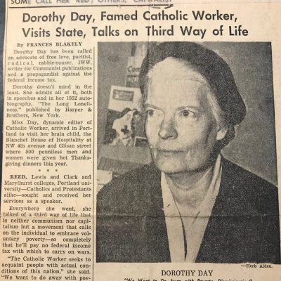 DorothyDayPortlandBlanchetHouseArticle