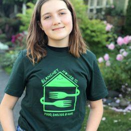 Blanchet House Tshirt Green designed by Ryan Bubnis
