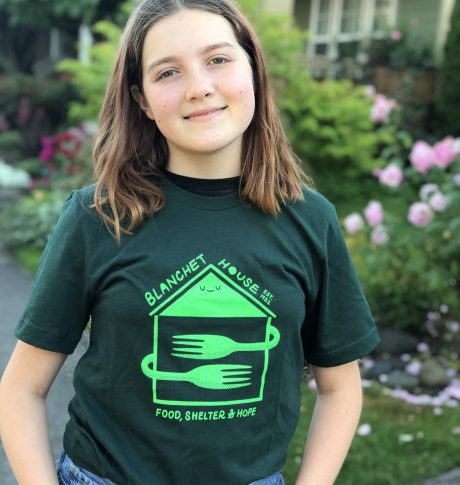 Blanchet House Tshirt Green designed by Ryan Bubnis