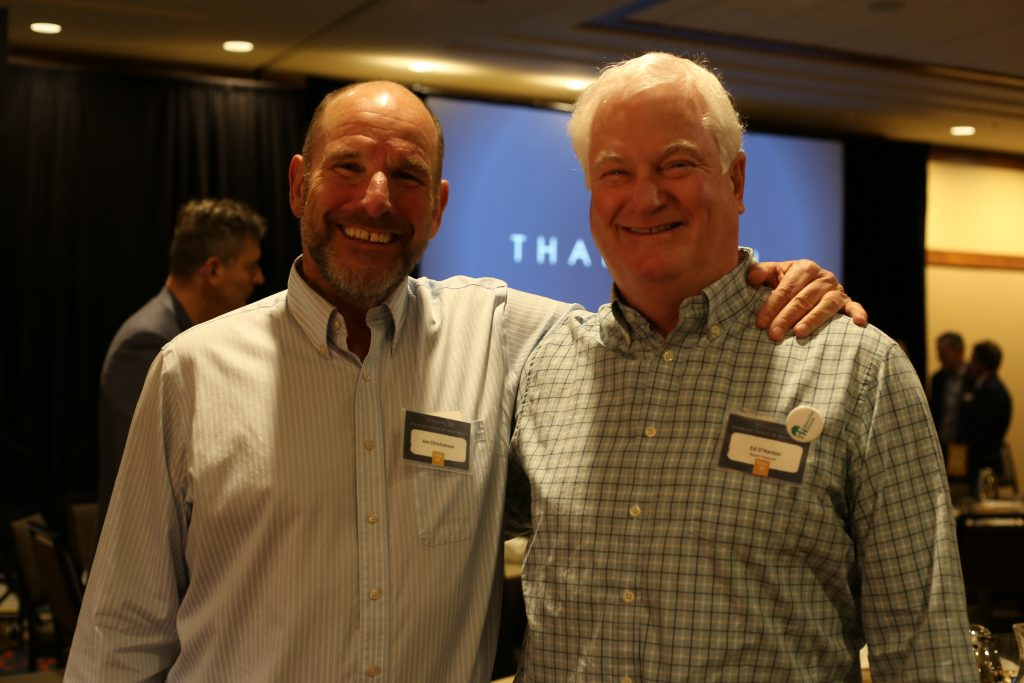 Jim Christianson (left) and Ed O'Hanlon at the 2019 brunch.