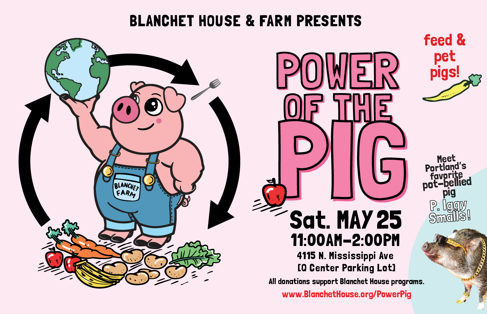 Power of the pig Blanchet House event Q center