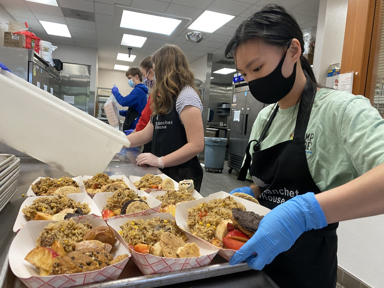 Volunteer to serve to-go meals at Blanchet House during COVID19 in Portland
