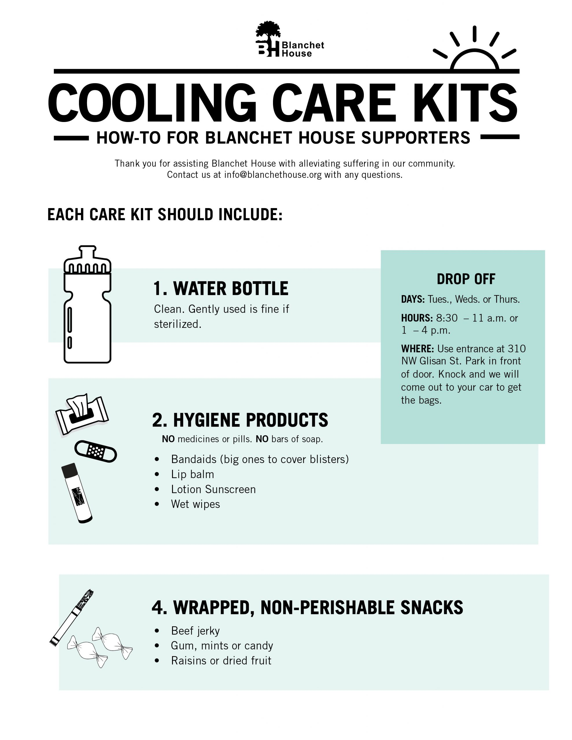 How to make a summer care kit for homeless
