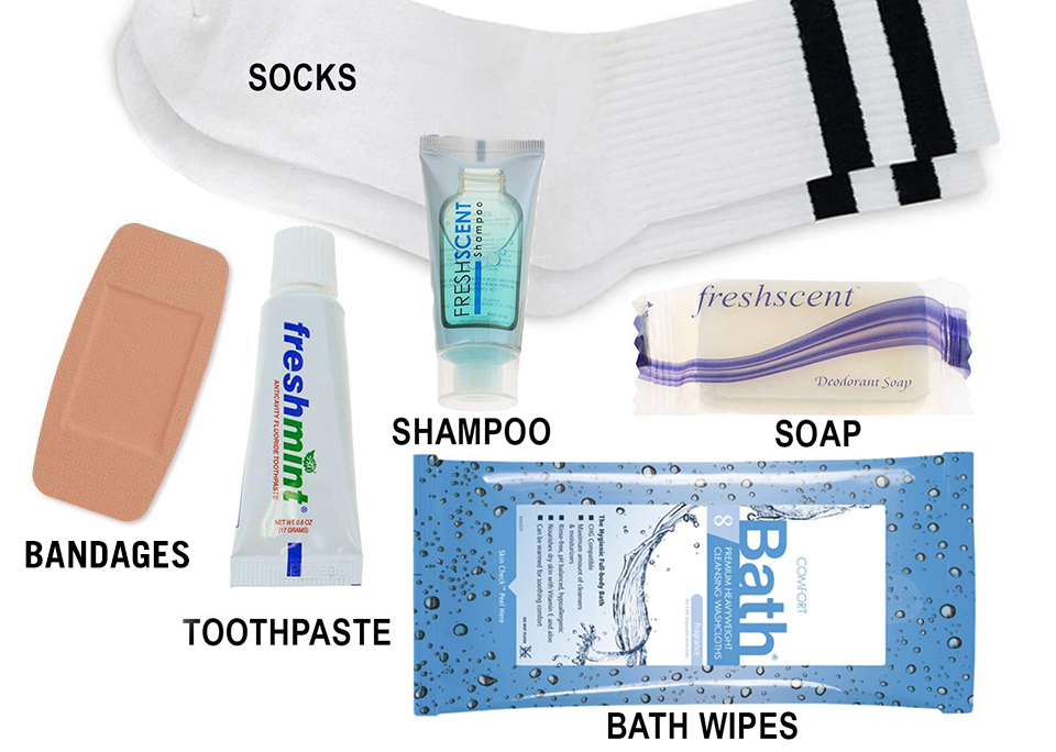 Items to include in a Hygiene Care Kit for the homeless.