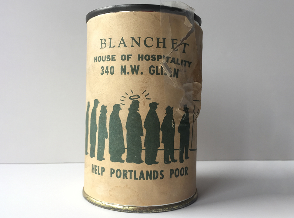 Vintage Blanchet House coin collection can used to solicit donations from Portland bars in the 1960s.
