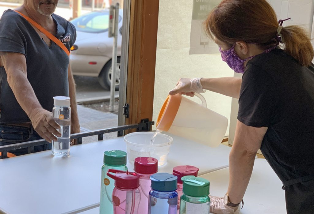 Water for homeless in Portland during heat wave