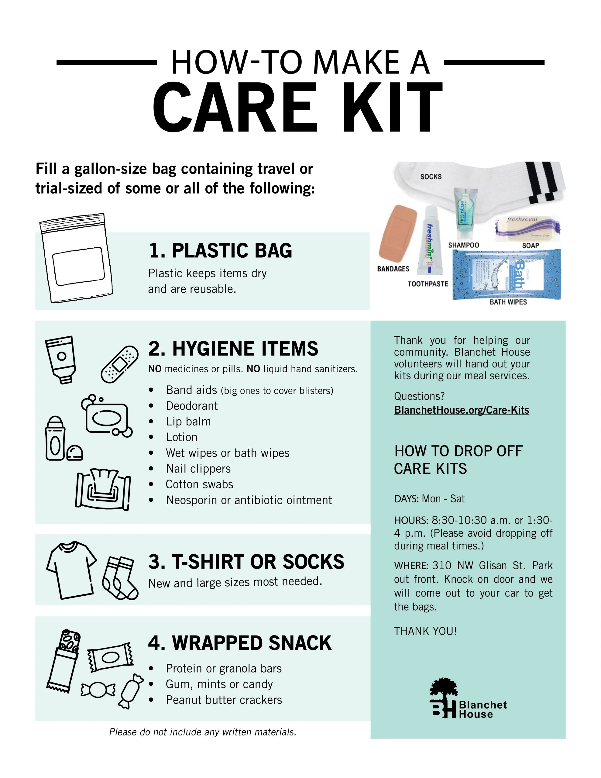 How to Make Care Kits for the Homeless
